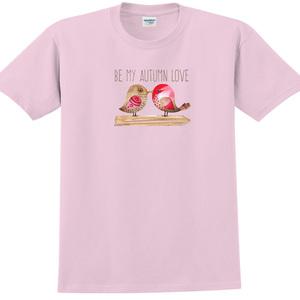 YOSHI850|新創設計師850 Collections【Be my autumn love】短袖成人T-shirt (粉紅)