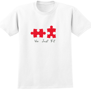 YOSHI850|新創設計師850 Collections【We just fit】短袖成人T-shirt (白)