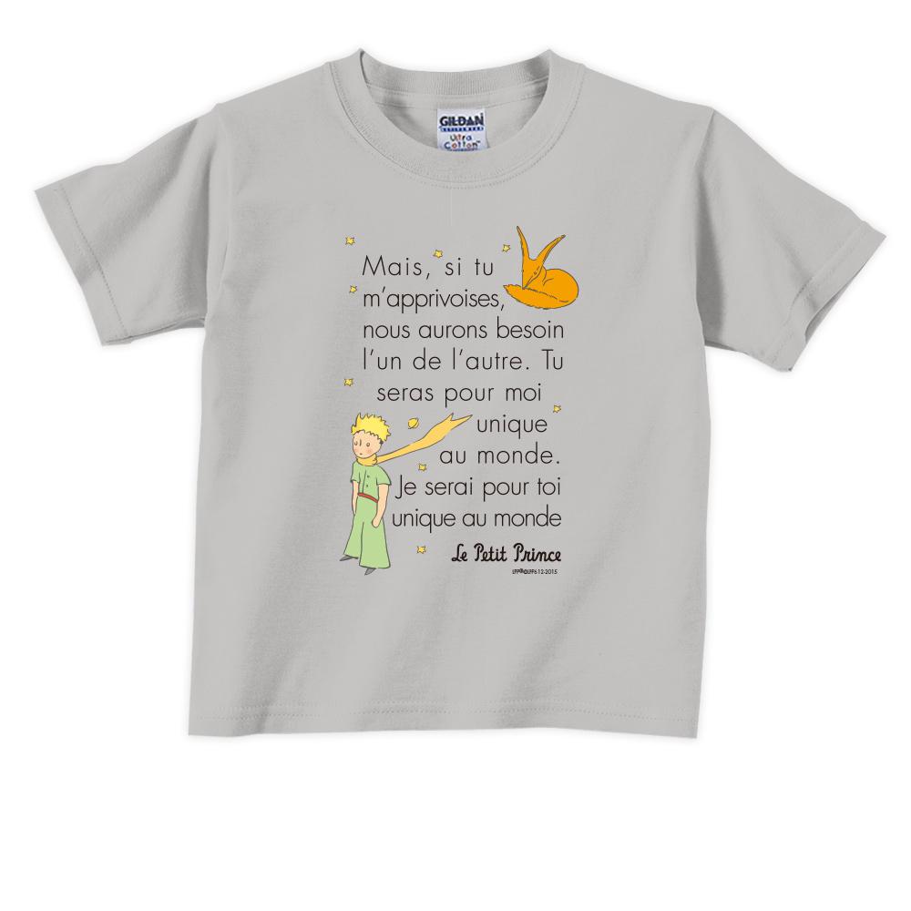 YOSHI850 小王子經典版授權【對我來說你是獨一無二(法)】短袖兒童T-shirt 《6色》