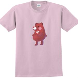 YOSHI850|新創設計師陳小安【熊】短袖成人T-shirt(粉紅/水藍)