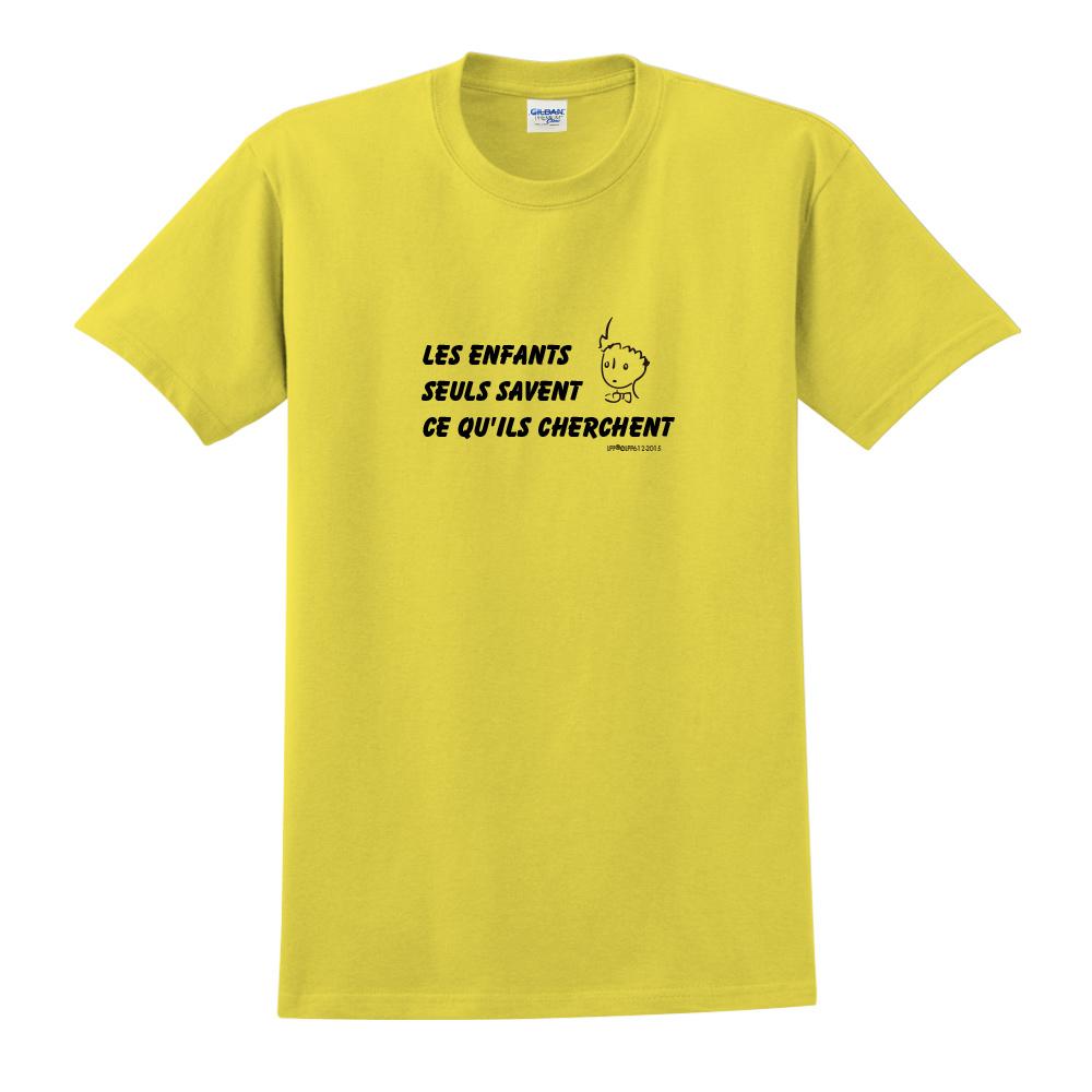 YOSHI850|小王子經典版授權【只有小孩子知道他們在找甚麼】短袖中性T-shirt (黃)