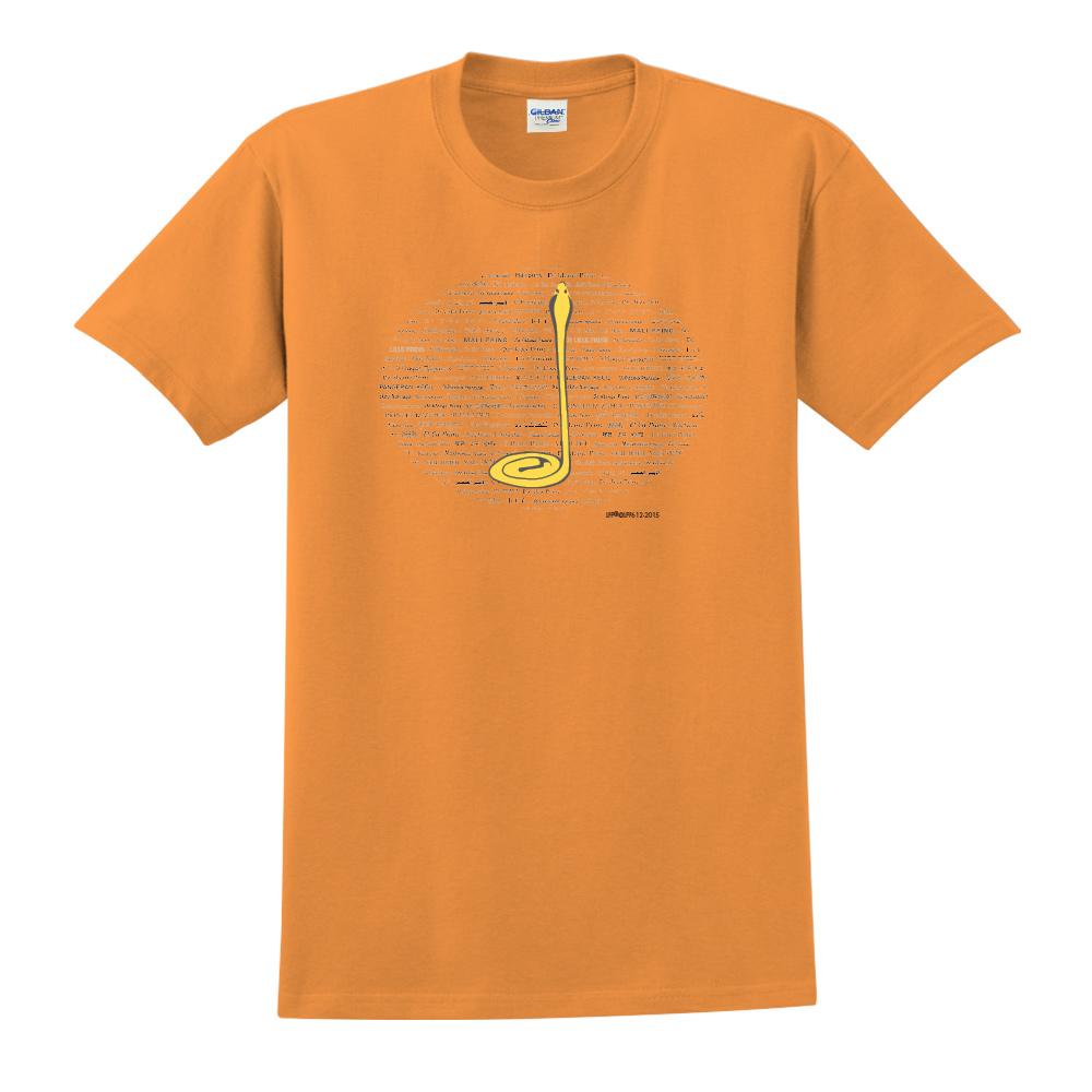 YOSHI850|小王子經典版授權【沙漠中的黃蛇】短袖中性T-shirt (橘)
