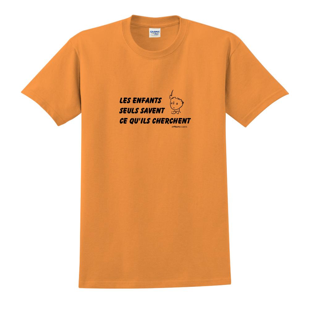 YOSHI850|小王子經典版授權【只有小孩子知道他們在找甚麼】短袖中性T-shirt (橘)