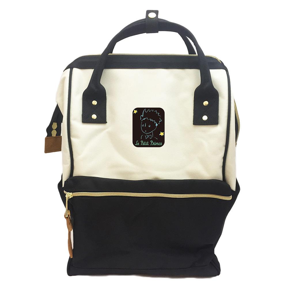 YOSHI850 小王子經典版授權:寬口後背包【黑白款】