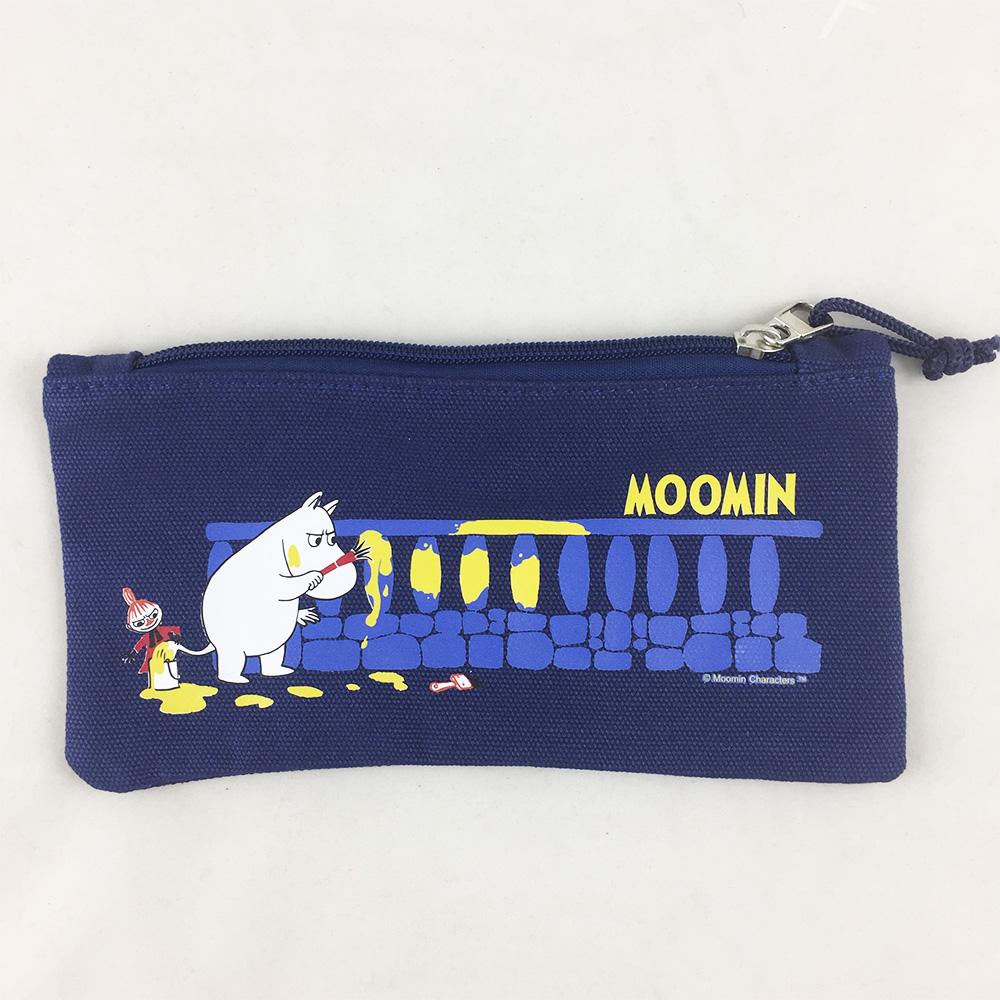 YOSHI850|嚕嚕米正版授權:筆袋【藍】