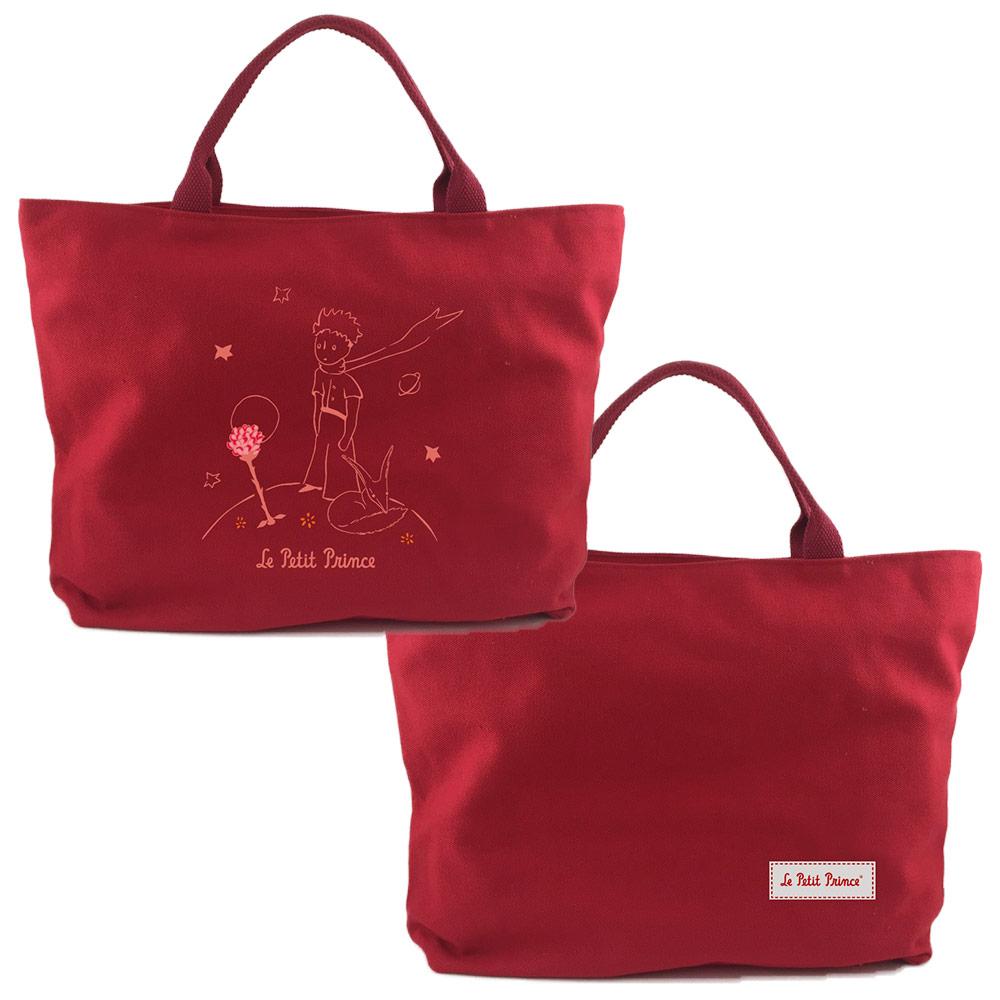 YOSHI850 小王子經典版授權:拉鍊帆布包-大【紅】