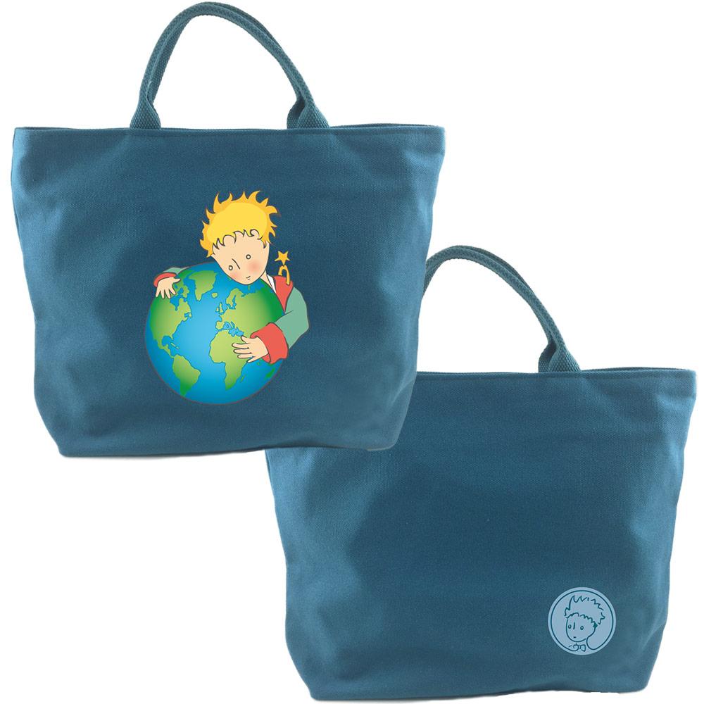 YOSHI850 小王子經典版授權:拉鍊帆布包-小【藍】