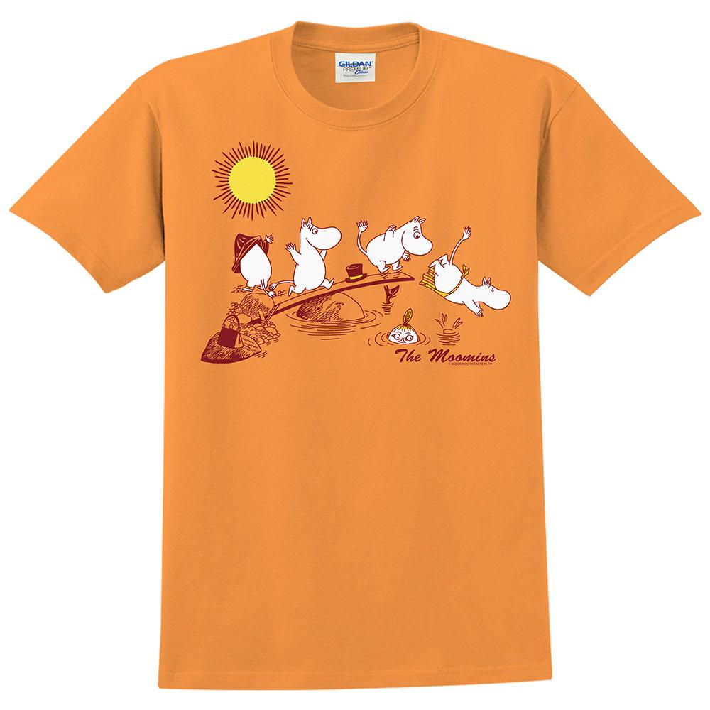 YOSHI850 Moomin嚕嚕米正版授權:T恤【The Moomins】成人短袖 T-shirt