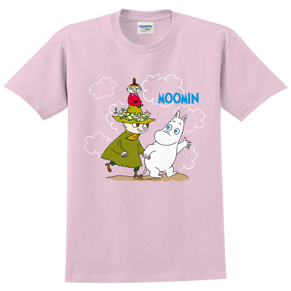 YOSHI850 Moomin嚕嚕米正版授權:T恤【Let's Go】成人短袖 T-shirt