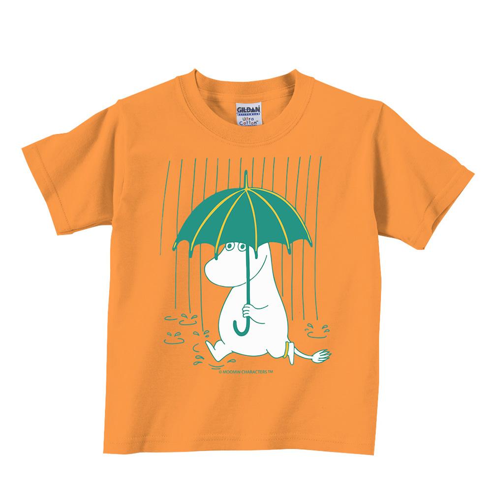 YOSHI850 Moomin嚕嚕米正版授權:T恤【雨中散步】兒童短袖 T-shirt