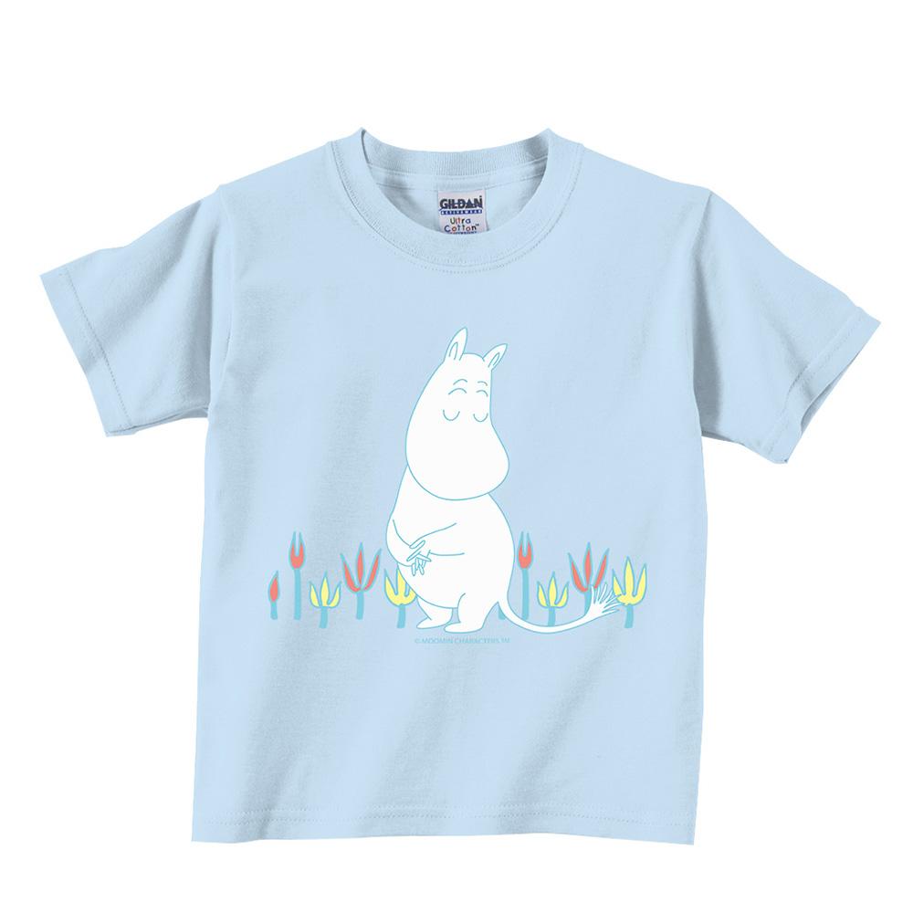 YOSHI850 Moomin嚕嚕米正版授權:T恤【害羞的Moomin】兒童短袖 T-shirt