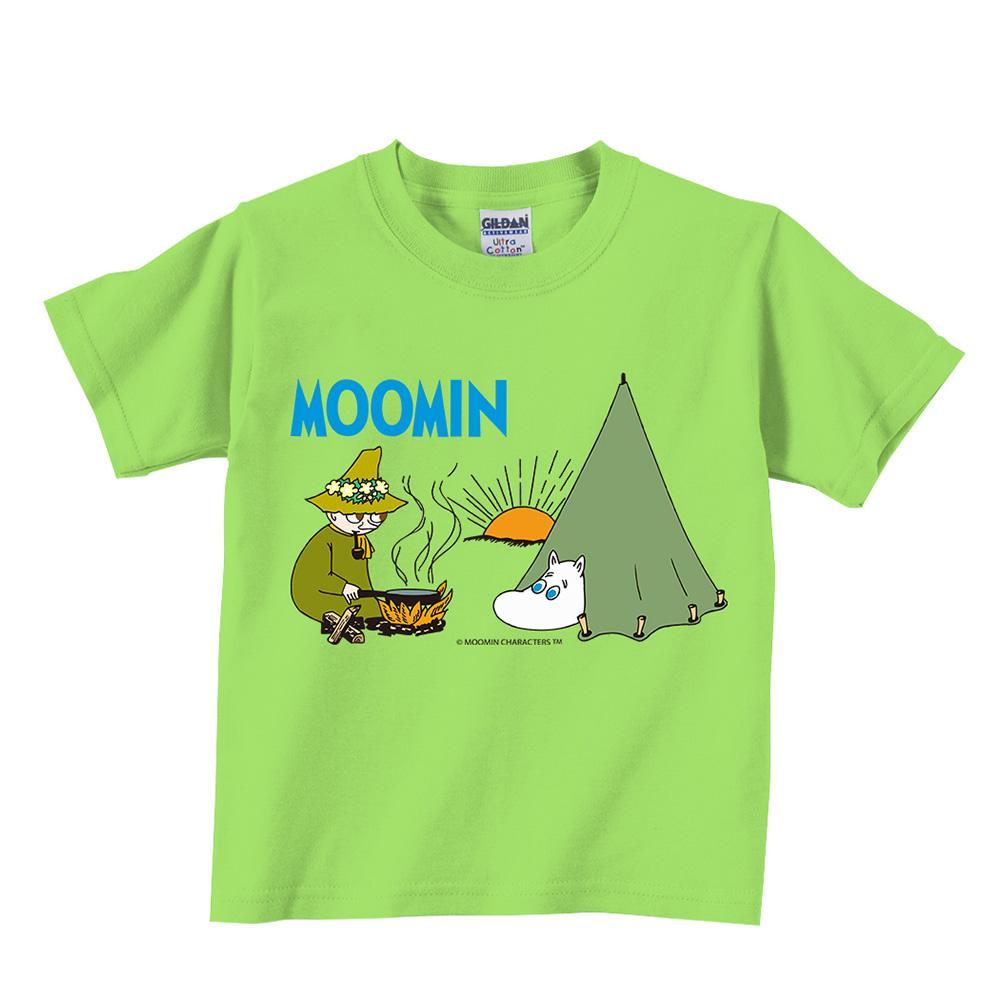 YOSHI850|Moomin嚕嚕米正版授權:T恤【露營】兒童短袖 T-shirt