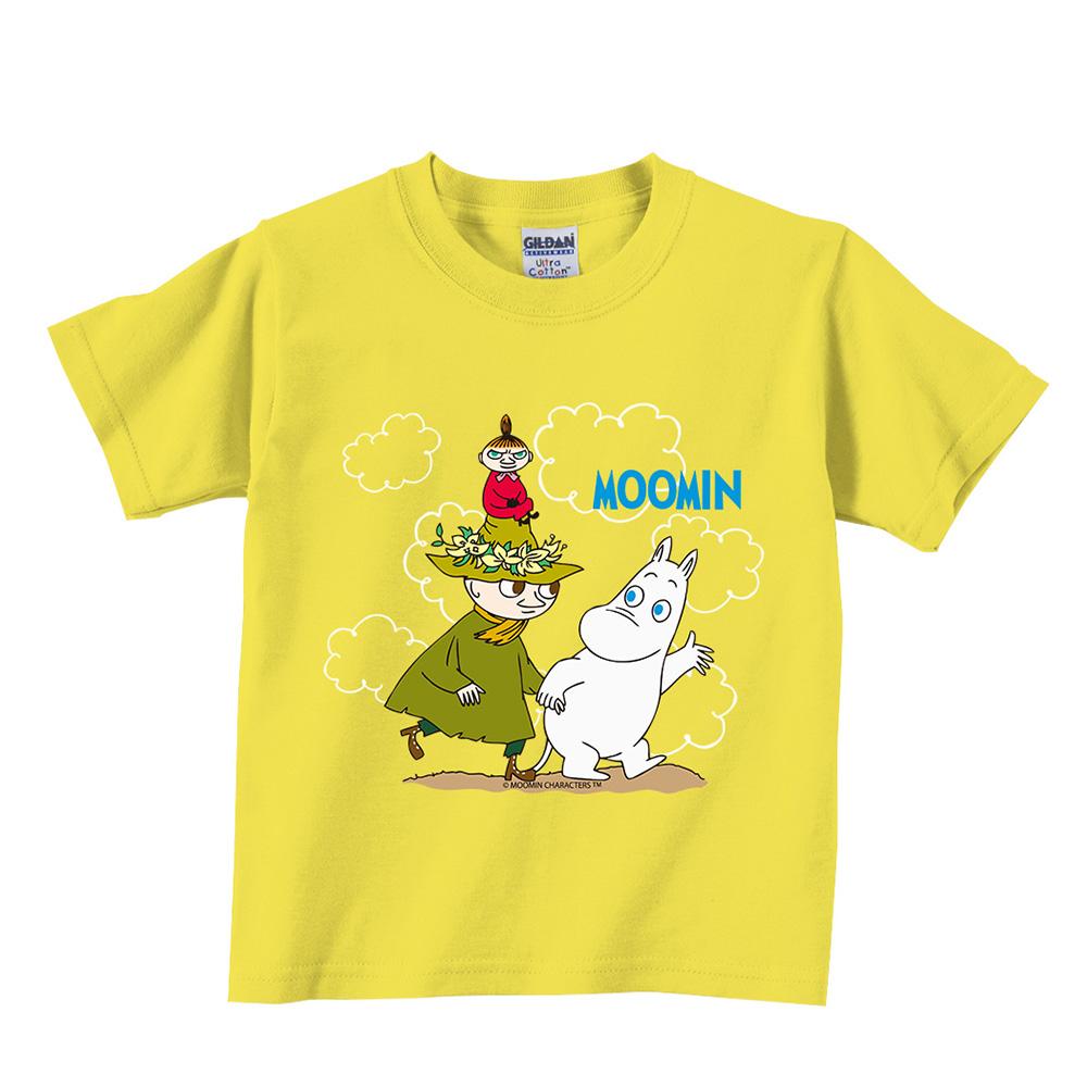 YOSHI850|Moomin嚕嚕米正版授權:T恤【Let's Go】兒童短袖 T-shirt