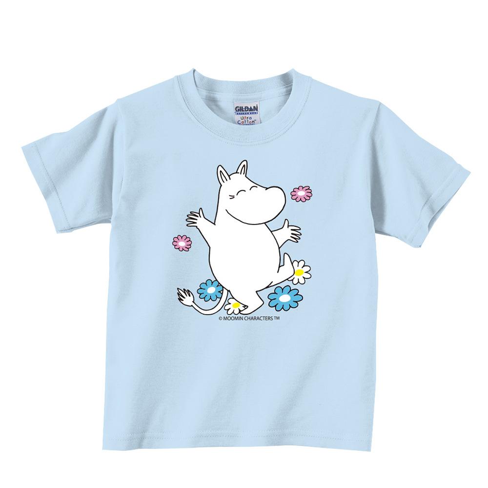 YOSHI850|Moomin嚕嚕米正版授權:T恤【花漾】兒童短袖 T-shirt
