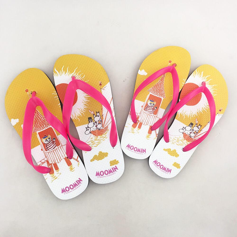 YOSHI850|Moomin嚕嚕米正版授權:夾腳拖鞋【02】女/男