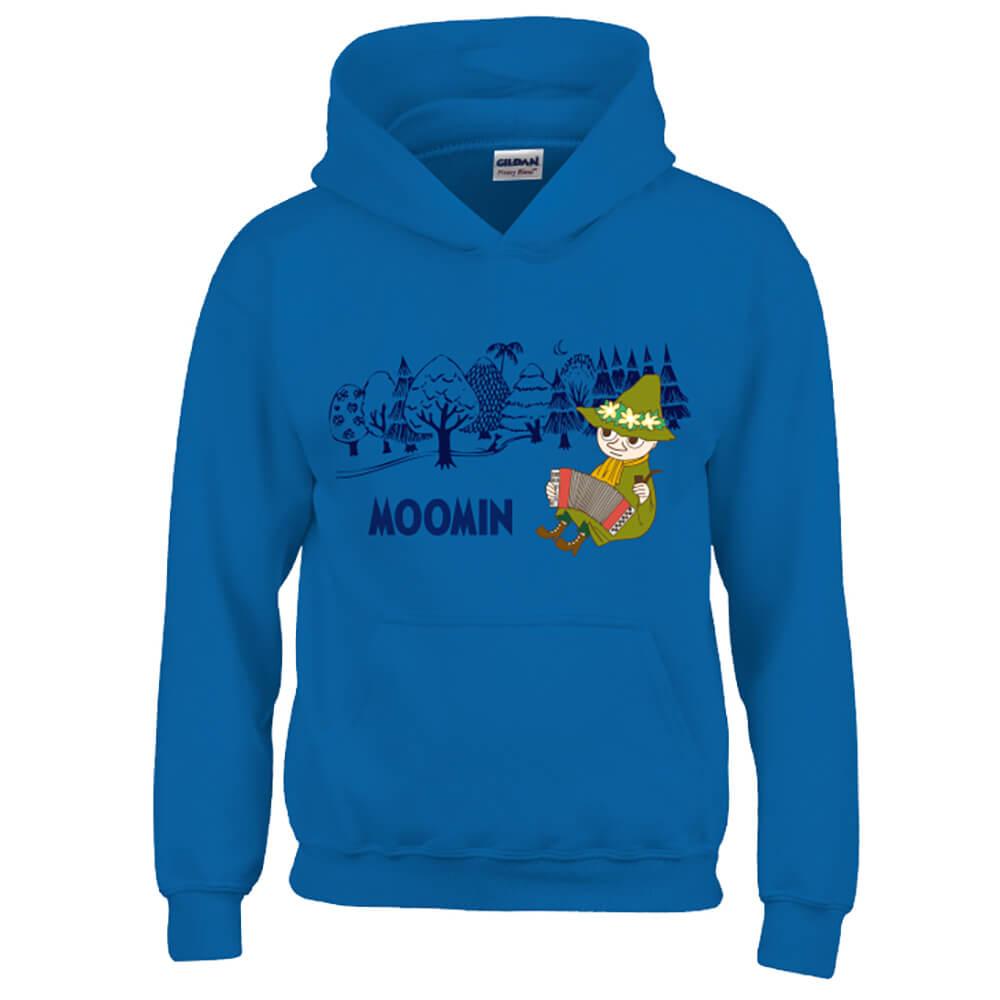 YOSHI850|Moomin嚕嚕米正版授權:帽T【仲夏之夜】成人長袖 T-shirt (寶石藍)