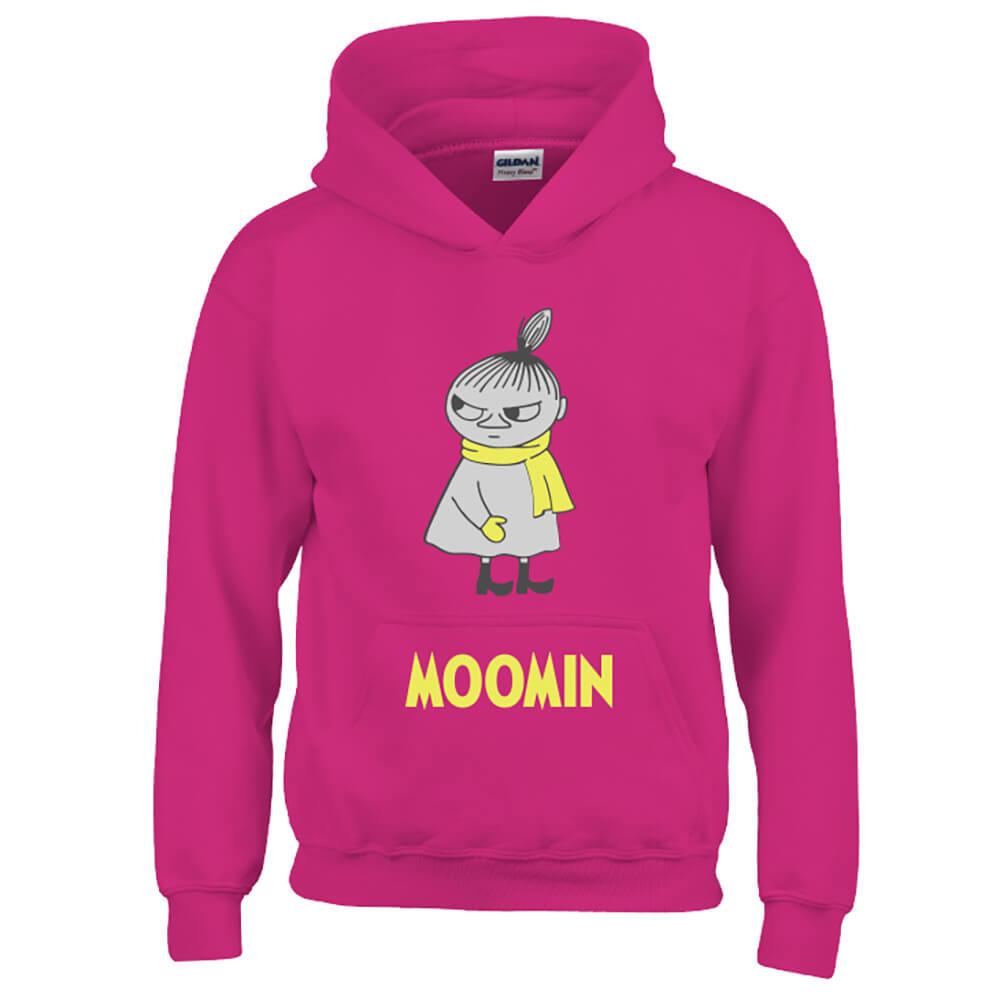YOSHI850|Moomin嚕嚕米正版授權:帽T【等待寒冬】成人長袖 T-shirt (桃紅)