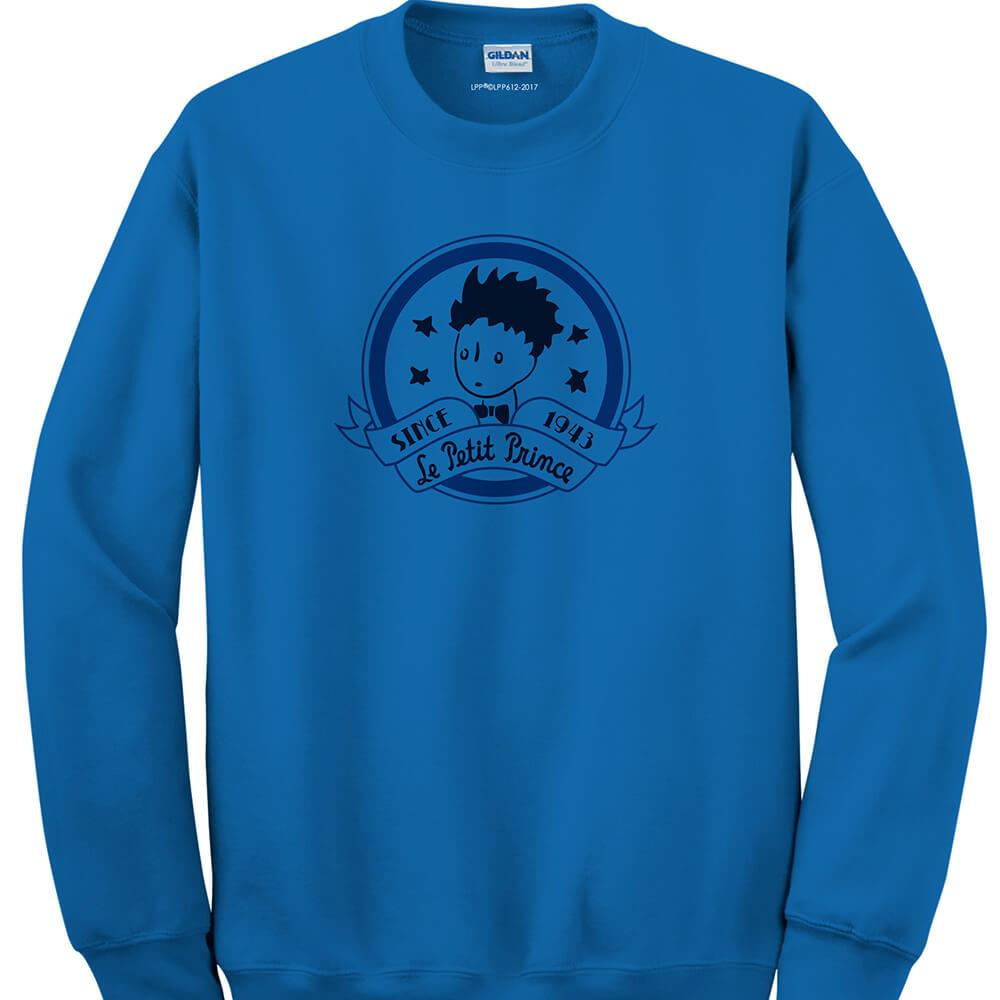 YOSHI850|經典小王子正版授權:大學T【奇怪的大人們 】成人長袖 T-shirt (寶石藍)