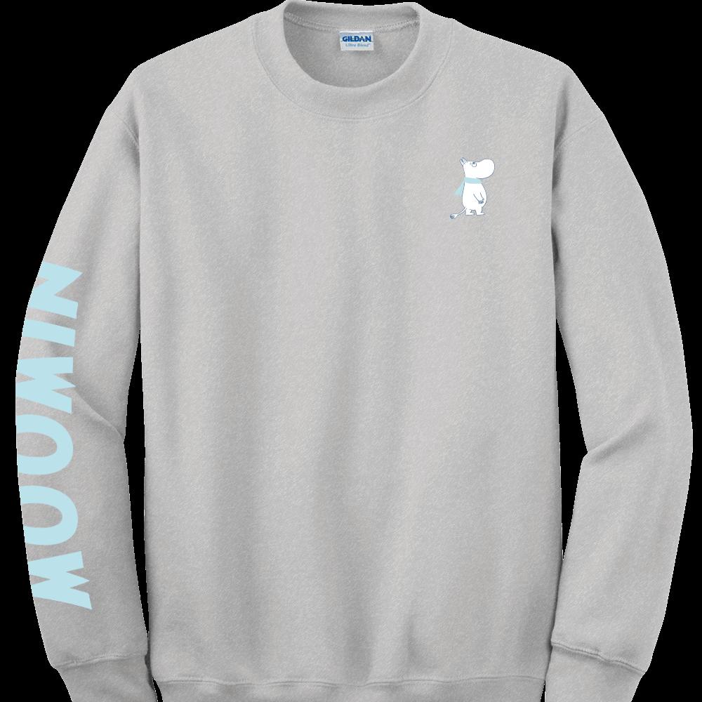 YOSHI850|Moomin嚕嚕米正版授權:大學T【07 麻灰】成人長袖 T-shirt  (麻灰)