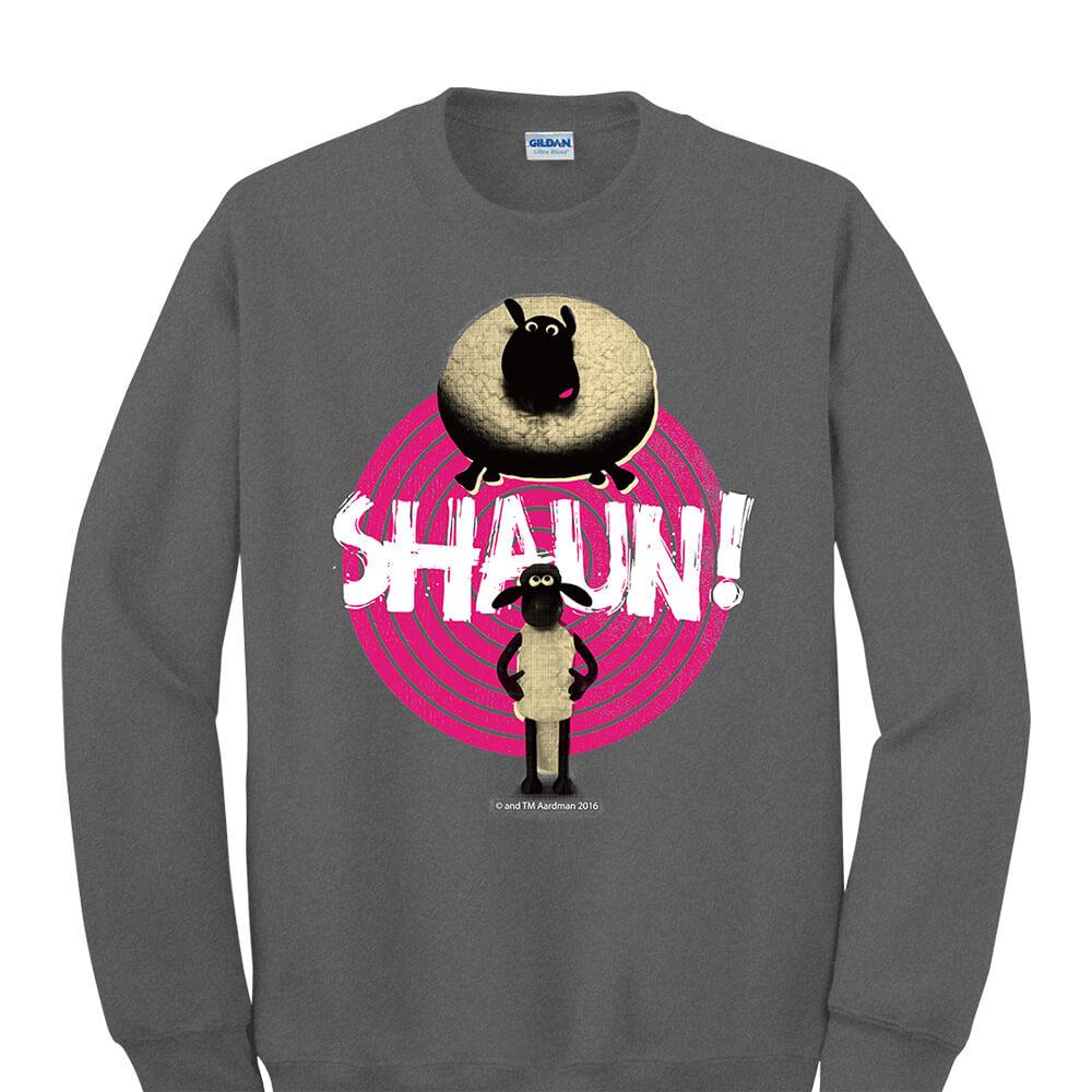 YOSHI850|笑笑羊正版授權:大學T【黑膠唱盤】成人長袖 T-shirt (石楠灰)