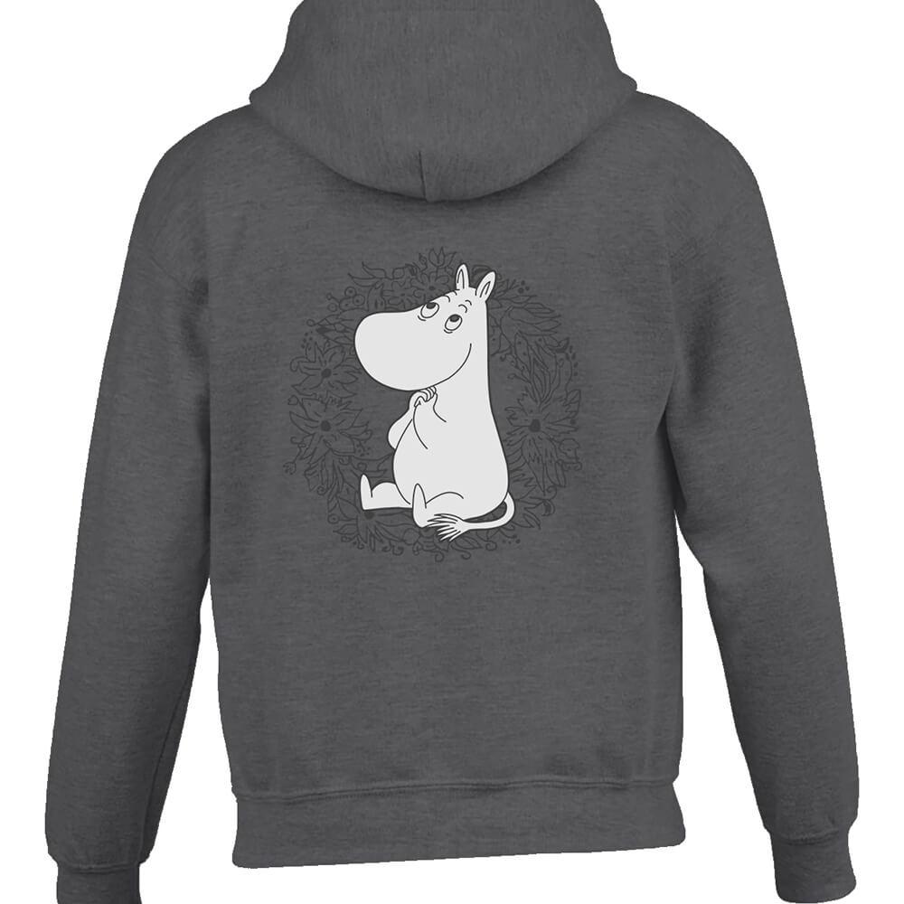YOSHI850|Moomin嚕嚕米正版授權:連帽夾克【許願】成人長袖(石楠灰)