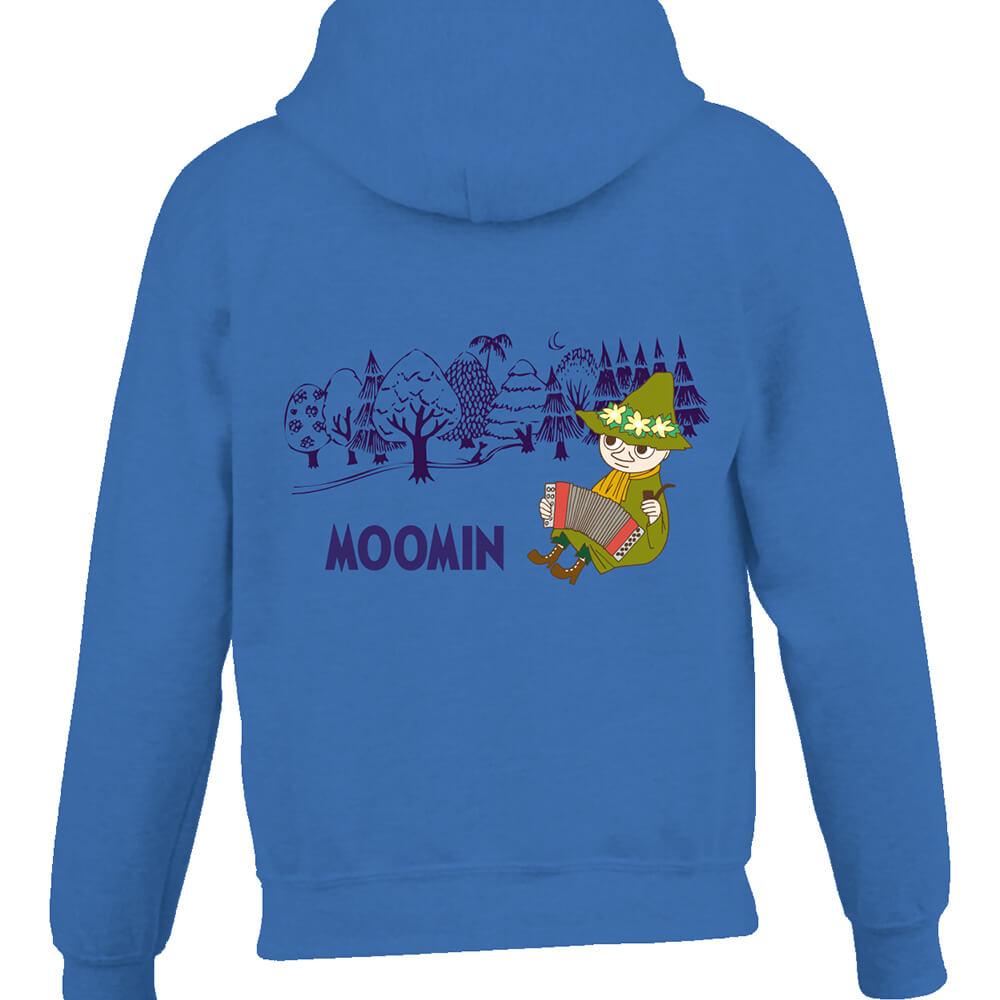 YOSHI850|Moomin嚕嚕米正版授權:連帽夾克【仲夏之夜】成人長袖(寶石藍)