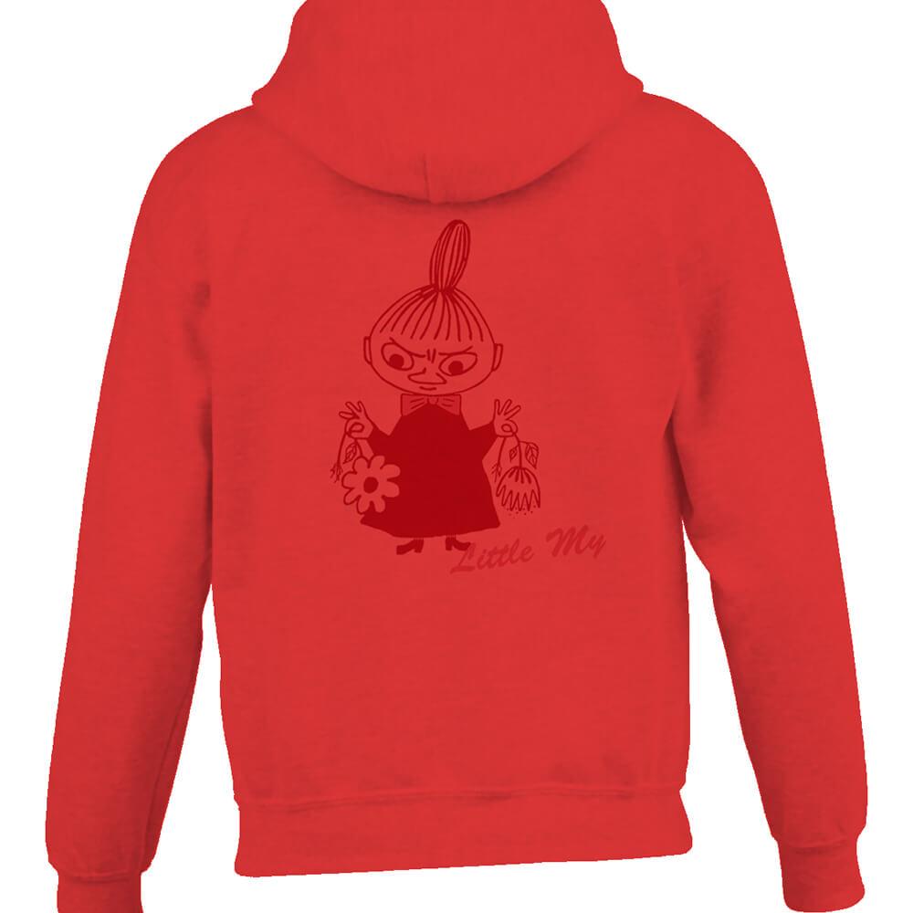 YOSHI850|Moomin嚕嚕米正版授權:連帽夾克【Little My】成人長袖(紅)