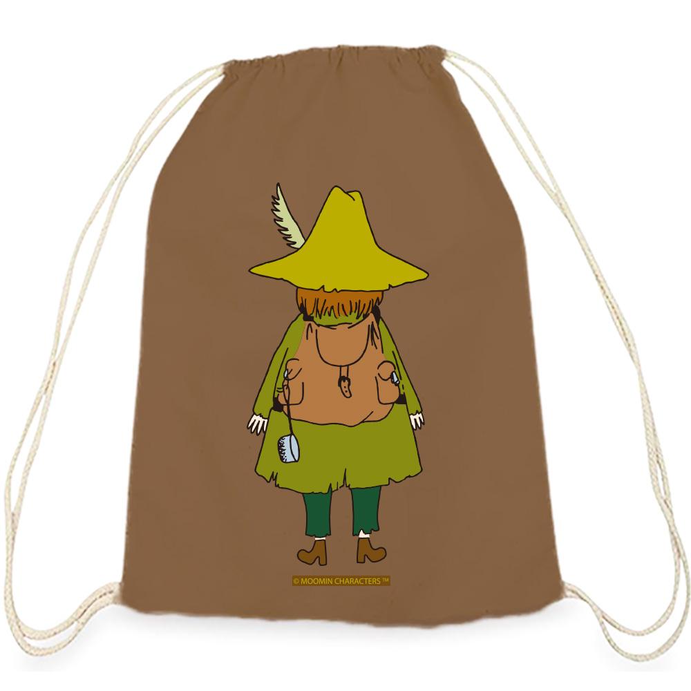 YOSHI850 Moomin嚕嚕米正版授權:彩色束口後背包【阿金】咖啡