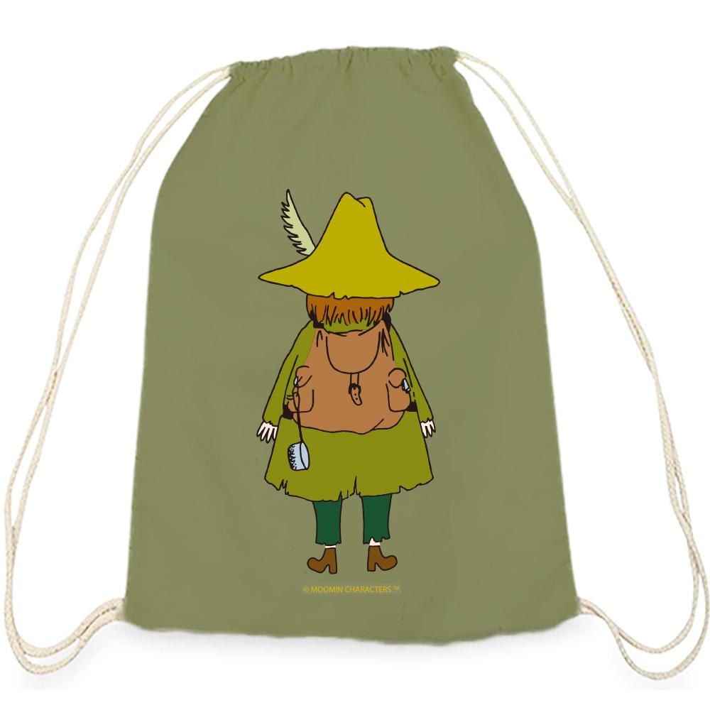 YOSHI850|Moomin嚕嚕米正版授權:彩色束口後背包【阿金】軍綠
