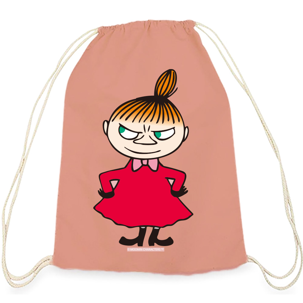 YOSHI850|Moomin嚕嚕米正版授權:彩色束口後背包【 Liitle My】 粉