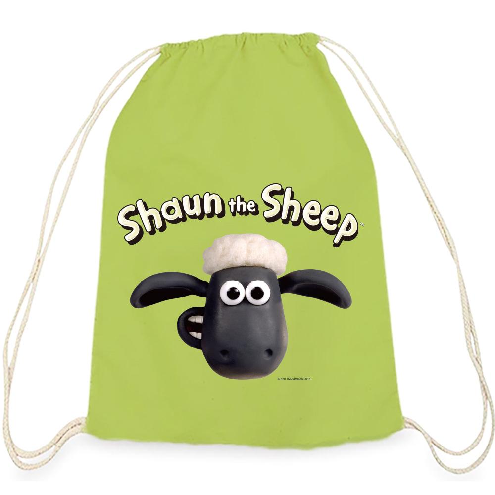 YOSHI850|笑笑羊正版授權:彩色束口後背包【 笑笑羊】果綠