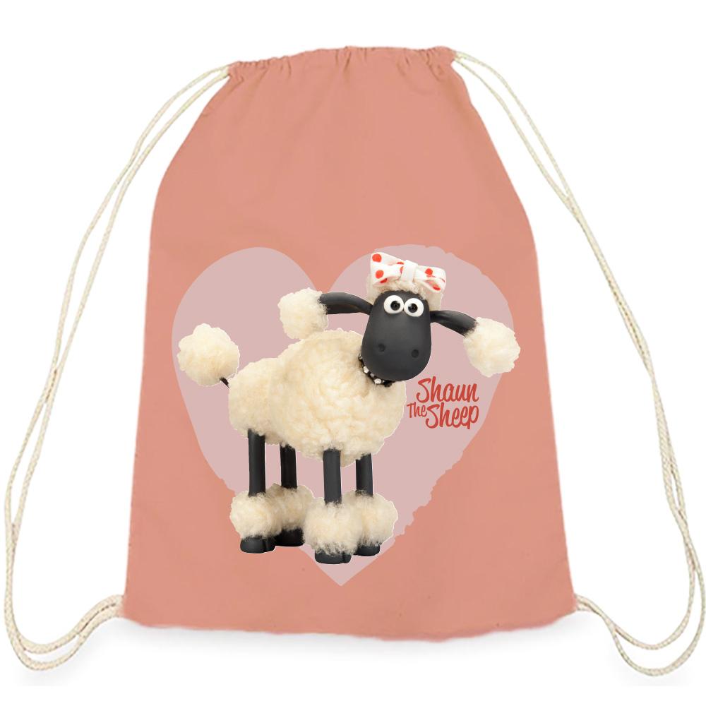 YOSHI850|笑笑羊正版授權:彩色束口後背包【 可愛羊咩咩】粉色