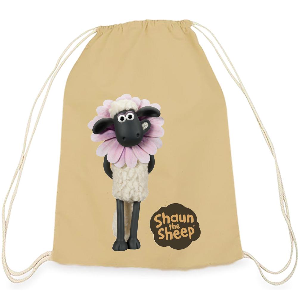 YOSHI850|笑笑羊正版授權:彩色束口後背包【春天】卡其色