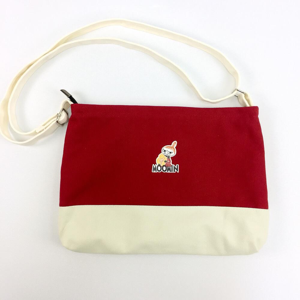 YOSHI850|嚕嚕米正版授:併色肩背包【紅】