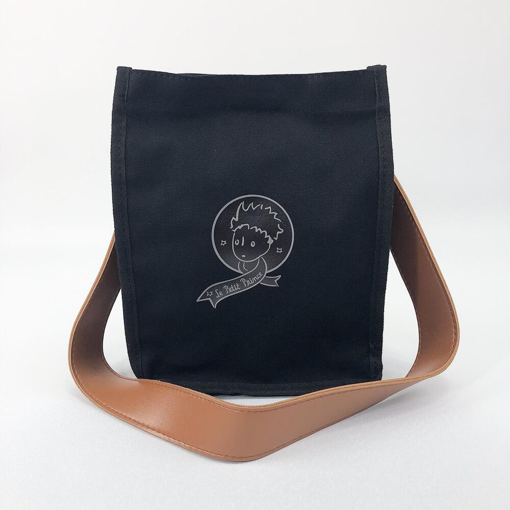 YOSHI850 小王子經典版授權:皮帶手提肩背包【02黑】