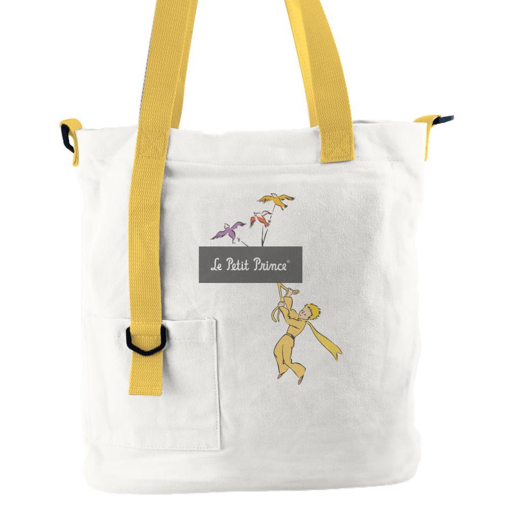 YOSHI850|小王子經典版授權:吊帶款購物包【白黃】
