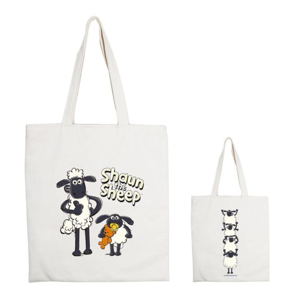 YOSHI850 笑笑羊正版授權:手提購物包【03 疊疊樂 】米白/麻黃
