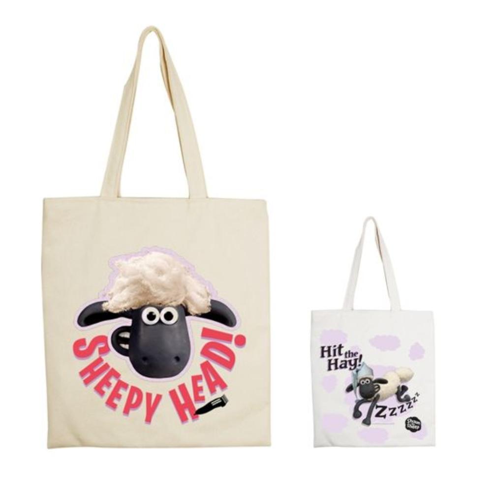 YOSHI850|笑笑羊正版授權:手提購物包【08 ZZ羊 】米白/麻黃