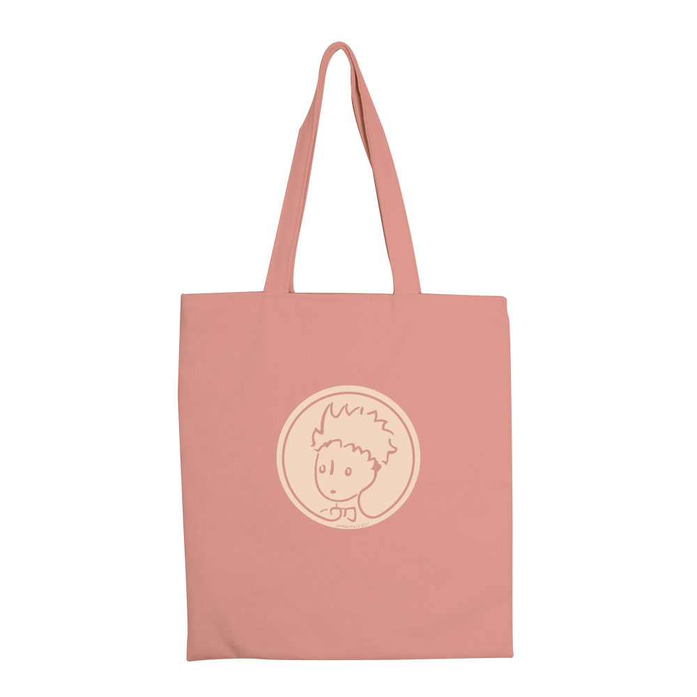 YOSHI850|小王子經典版授權:彩色手提購物包【玫瑰花園(粉紅)】