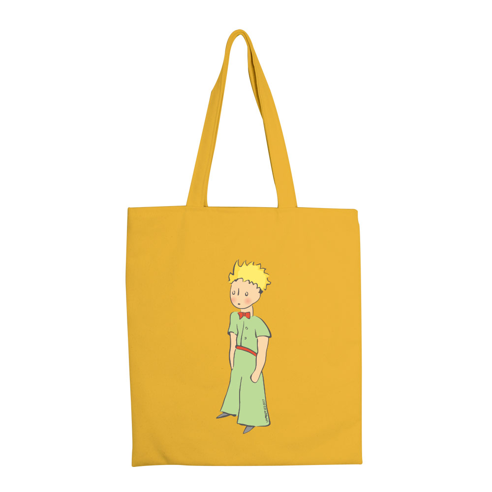 YOSHI850|小王子經典版授權:彩色手提購物包【傻傻的小王子(黃)】