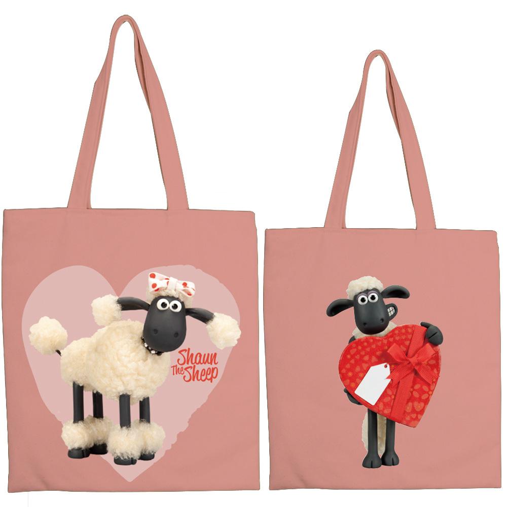 YOSHI850|笑笑羊正版授權:彩色手提購物包【05 可愛羊咩咩(粉)】