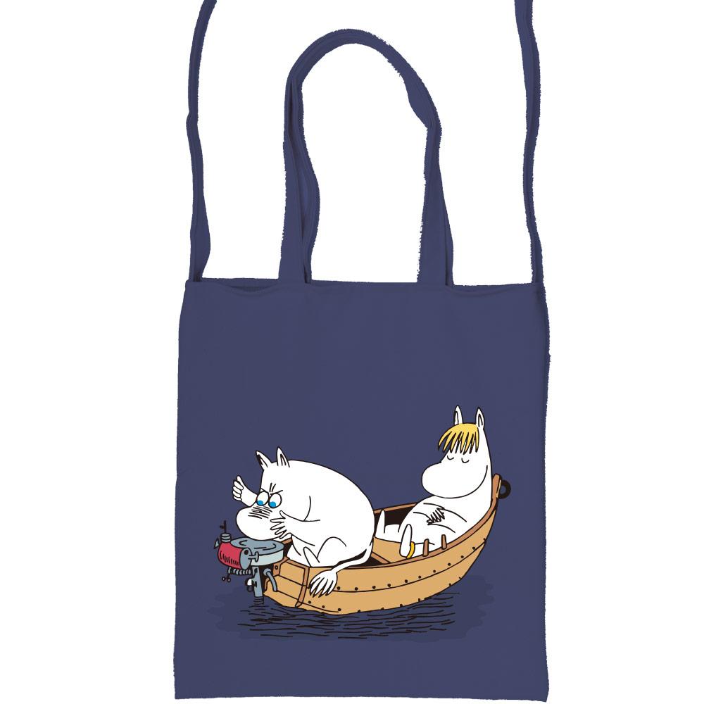 YOSHI850|嚕嚕米正版授:彩色斜背包【05 moomin捕魚趣(藏青)】