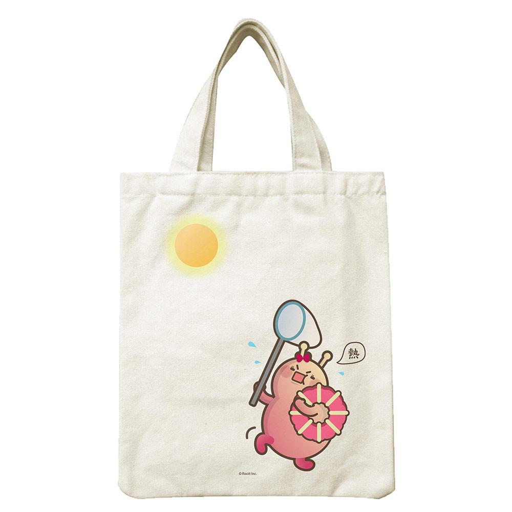 YOSHI850|新創設計師 - 沒個性星人Roo:小帆布包【05 嚕比抓太陽】