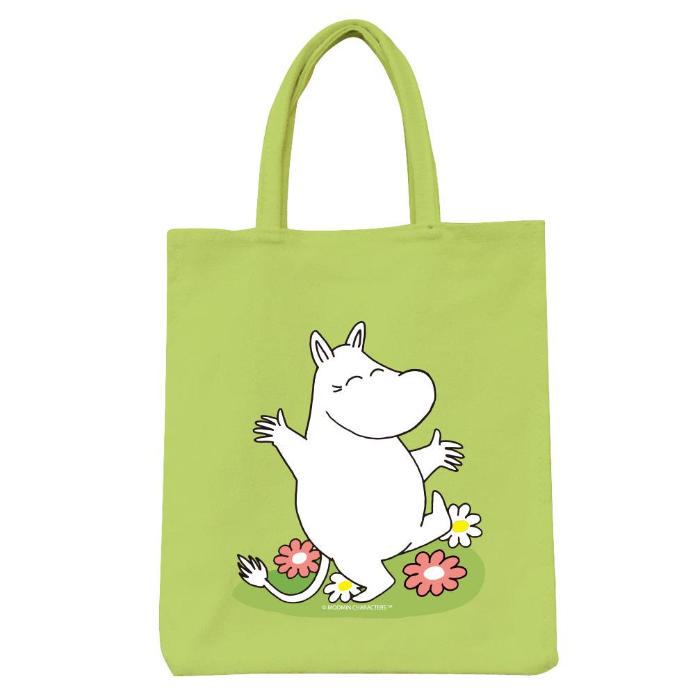 YOSHI850 Moomin嚕嚕米正版授權:彩色野餐包【02 花漾(果綠)】