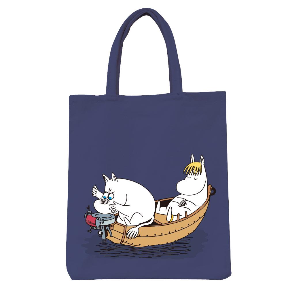 YOSHI850|Moomin嚕嚕米正版授權:彩色野餐包【05 moomin捕魚趣(藏青)】