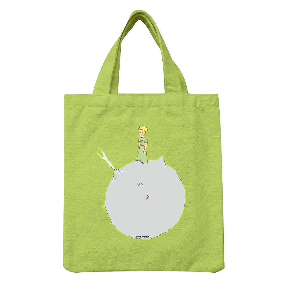 YOSHI850|小王子經典版授權:彩色手提小帆布包【03 另一個星球(果綠)】