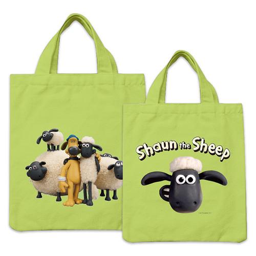 YOSHI850|笑笑羊正版授權:彩色手提小帆布包【03 笑笑羊(果綠)】