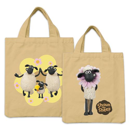 YOSHI850|笑笑羊正版授權:彩色手提小帆布包【08 春天來了(卡其)】