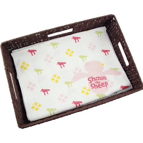 YOSHI850|笑笑羊正版授權-柔棉(單層)紗布毛巾 【我愛粉紅】