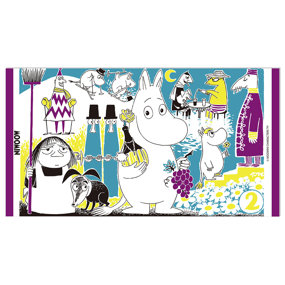 YOSHI850|Moomin嚕嚕米正版授權:彩色厚棉浴巾【05】